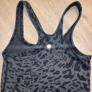 Lululemon black grey leopard racerback tank 4